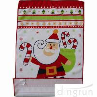 Buy cheap Custom Printed Microfiber Kitchen Towels Christmas Design Low Cadmium from wholesalers