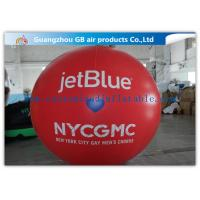 Buy cheap Inflatable Big Advertising Balloons , Red Air Balloon Advertising Helium Ball product