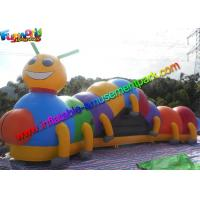 Buy cheap Giant Inflatable Caterpillar Tunnel , Inflatable Caterpillar Kids Obstacle Course from wholesalers