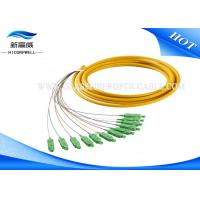 Buy cheap SM Simplex Single Mode Fiber Pigtails 9 125 G652 SC APC IEC 60794 Approved from wholesalers