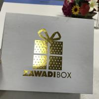 Buy cheap Gold Custom Printed Packing Boxes Gift White Hot Stamping Cardboard Mounted from wholesalers