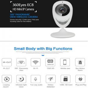 Buy cheap EC8 HD 720P Mini Wifi IP Camera Wireless P2P Baby Monitor Network Remote CCTV Surveillance DVR Camera Playback on App product