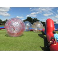 Buy cheap Grass Red Cord Inflatable Zorb Ball Inflatable Human Hamster Ball 2.8m x 1.8m Dia from wholesalers