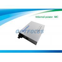 Dual Mode Fiber Media Converter RJ45 10 / 100 M  Internal Power WDM MM SM