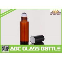 Buy cheap 10ml Amber Glass Roll On Bottle For Perfume Use product