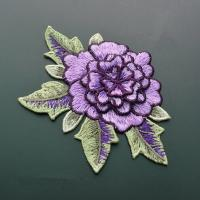 Buy cheap Polyester Embroidered Floral Appliques For Jackets 11 CM X 9 CM Multi Color Available from wholesalers