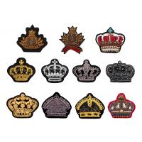 Buy cheap Indian silk diamond monkey crown hand embroidered sequin beaded uniform shoes badge patch product
