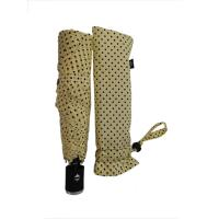 Buy cheap Cream Color 3 Section Automatic Open And Close Compact Umbrella 6 Panels from wholesalers