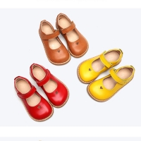 Buy cheap Soft Kids Shoes Baby Girl Sandals Leather Cute Sandals Yellow Mary Jane Shoes from wholesalers