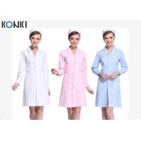 Buy cheap Short Sleeve White / Pink Nurse Uniform Dress With Long Style Coat from wholesalers