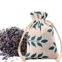 Buy cheap Breathable Muslin Drawstring Pouches , Burlap Reusable Bags Wedding Party Applied from wholesalers