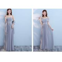 Buy cheap Sexy Chiffon Womens Bridesmaid Dresses With Long Length Embroidered Pearls from wholesalers