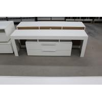 Buy cheap Small Wood TV Stand With Drawers , Contemporary Style White Melamine TV Unit from wholesalers