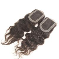 Buy cheap 2014 new arrival factory price deep wave brazilian hair closure from wholesalers