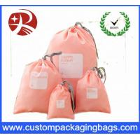 Buy cheap Rope Customized Promotional Drawstring Gift Pouches , Polyester Drawstring Bag from wholesalers