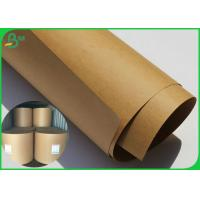 Buy cheap 80 Gsm Brown Kraft Paper Roll High Stiffness Virgin Wood Pulp Material from wholesalers