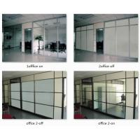 Buy cheap PDLC smart glass, switchable smart glass, sanded white laminated glass, tempered glass lamination product