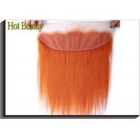 Buy cheap Soft Orange Lace Top Closure Hair Piece 4 * 13 Inch No Chemical Full Cuticle Aligned from wholesalers