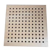 Buy cheap Sound Insulation Perforated Wood Acoustic Panels Wall Boards Indoor from wholesalers