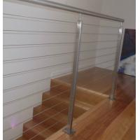 Buy cheap Modern stainless steel wire cable railing balcony / garden concrete stairs railing from wholesalers