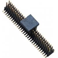 Buy cheap 1.0mm Dual ROW SMT  Pin Header Connector Single GF Brass Gold Flash from wholesalers