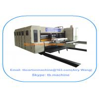 Buy cheap TB600 1800*2500mm paperboard carton box flexo printing slotting machine with 4 color from wholesalers