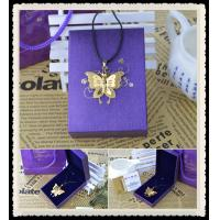 Buy cheap Men's Stainless Steel Gold Butterfly Pendant Necklace , Chain Pendant Necklace from wholesalers