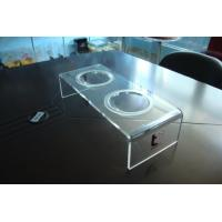 Buy cheap Personalized 8mm Clear Acrylic Pet Bowl Stand 500 * 220 * 150mm from wholesalers