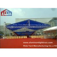 Aluminum Alloy Stage Light Truss Systems Hand / Electronic Hoist With Roof Cover