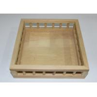 Buy cheap Pine Material Custom Wood Serving Tray Set Square Shape Unique Design from wholesalers