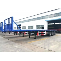 Buy cheap Shipping 3 Axles 40 Footer Flat Deck Trailers from wholesalers