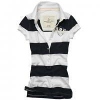 Buy cheap Stretch Cotton Mesh Red And White Striped Polo Shirt For Women 150g - 260g from wholesalers