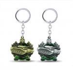 Buy cheap 3D Brass Vintage Custom Logo Metal Keychains , Engraved Metal Keyrings from wholesalers