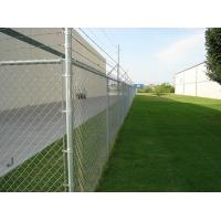 Buy cheap Barbed PVC coated Galvanized Chain link fence ( Diamond wire mesh ) from wholesalers