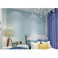 Buy cheap Blue Self Adhesive 3D Brick Effect Wallpaper Non Woven Materials , Pre - Pasted from wholesalers