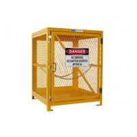 Buy cheap Yellow Gas Cylinder Storage Cages Used For Gas Tank And Cylinder Locker from wholesalers