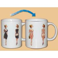 Buy cheap Sexy lady picture color changing Personalized Ceramic Mug  with lid for gifts from wholesalers