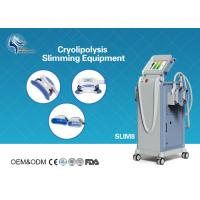 Buy cheap Innovative Cryolipolysis Freeze Fat Reduction Machine with 4 Handles Work Cryotherapy With USA Pump from wholesalers