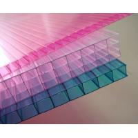 Buy cheap Customized Pink / Blue / Orange Soundproof Polycarbonate Hollow Sheet For Stadiums from wholesalers