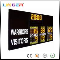 Buy cheap AFL Type Electronic Soccer Scoreboard / Sports Scoreboard With 12 Inch Yellow Digits from wholesalers