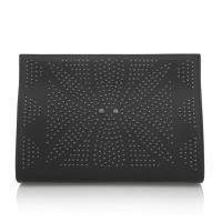 Buy cheap Laser Cut Lady Party Clutch , Black Nappa Leather Clutch Handbags , Magnetic Closure from wholesalers
