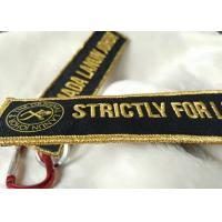 Buy cheap 3D gold emboridery logo Keychains Lanyard Designs Carabiner Short Lanyards from wholesalers