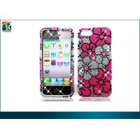 Buy cheap Plastic 3D Glitter Flower Rhinestone Diamond Pearl Hard Case Cover for iPhone 5 from wholesalers