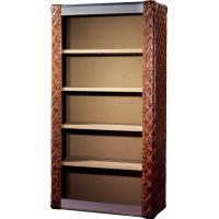 Buy cheap Top Genuine Leather Home Office Bookcase / Shelving Cabinet Solid Structure from wholesalers