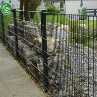 Buy cheap Black metal courtyard fencing panels double 8/6/8 wire mesh fence for sale from wholesalers