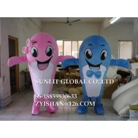 Buy cheap brother and sister dolphin mascot costume/customized fur sea animal mascot costume from wholesalers