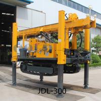 Buy cheap JDL-300 DTH percussive drilling water-air dual purpose track-mounted Drilling Rig from wholesalers