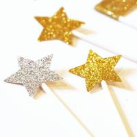 China Party Funy Stars Gold Glitter Stickers For Kids on sale