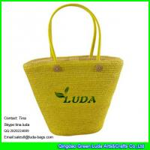 Buy cheap LUDA online buy straw handbag beaded wheat straw handmade bag from wholesalers