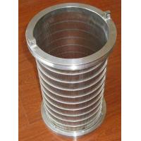 Buy cheap Stainless steel wedge wire screen filter mesh / tube / Johnson screen from wholesalers